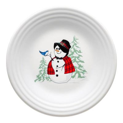 White Snowlady Luncheon Plate