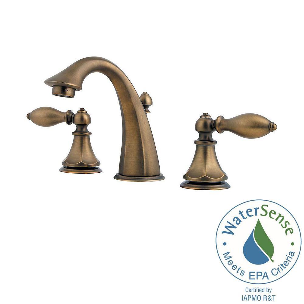 Pfister Catalina 8 in. Widespread 2-Handle Bathroom Faucet in Velvet ...