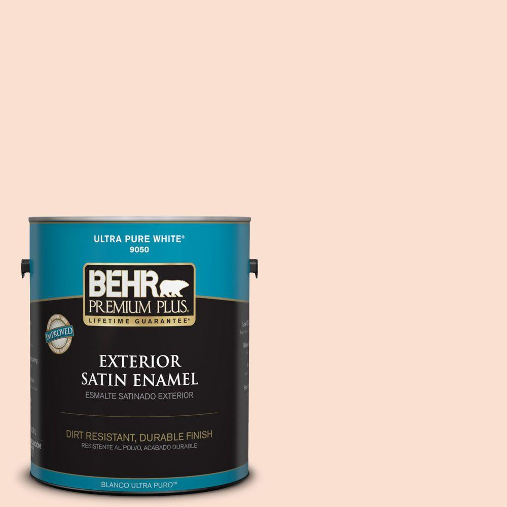 BEHR Premium Plus 1-gal. #260A-2 Derry Coast Sunrise Satin Enamel Exterior Paint