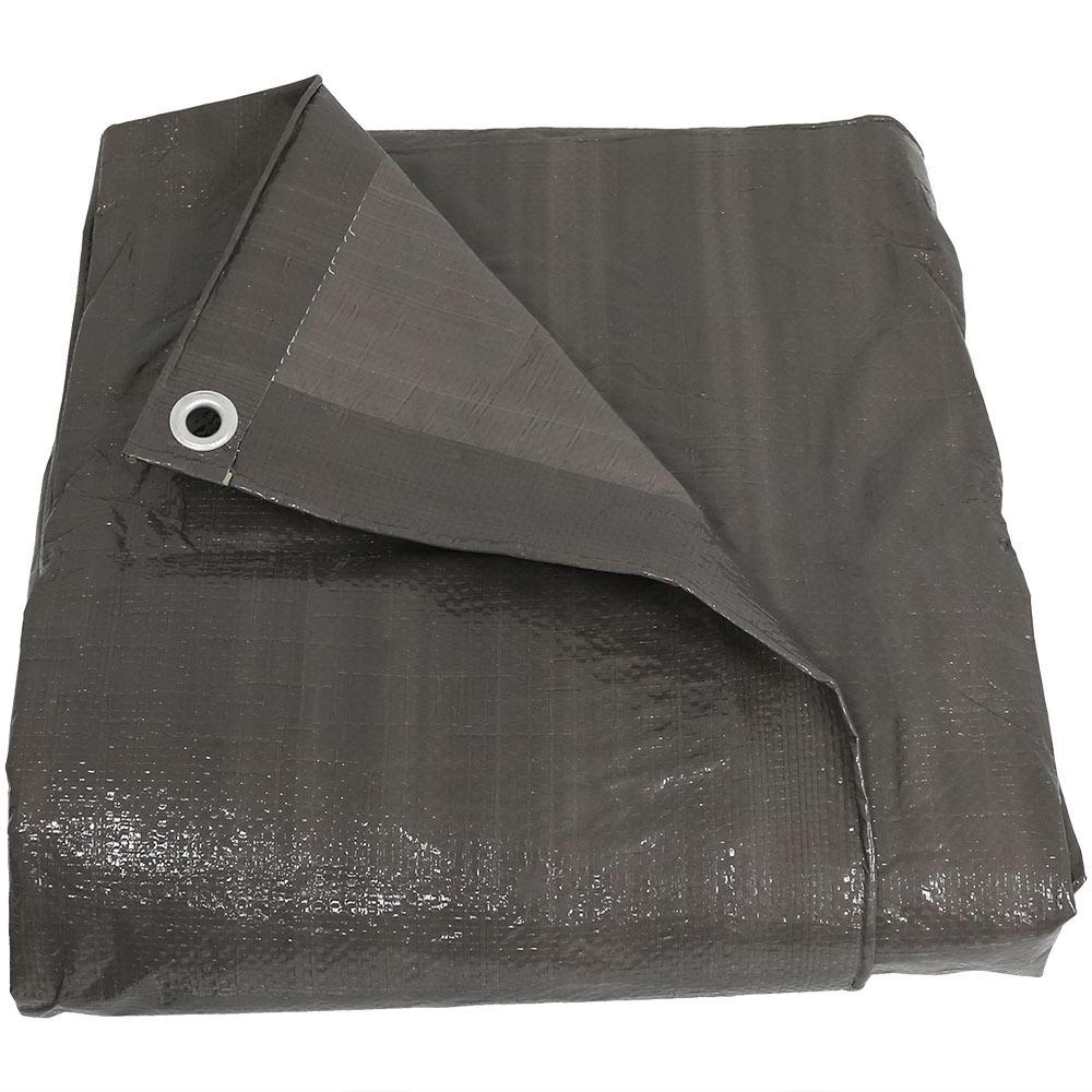 9 ft. x 12 ft. Reversible Dark Grey Waterproof Multi Purpose Poly Tarp