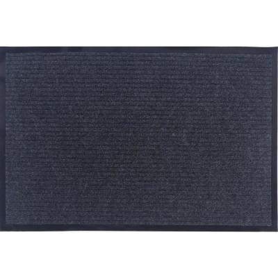 Otto Grip Collection Gray 24 in. x 36 in. PVC Backing Solid Indoor/Outdoor Doormat
