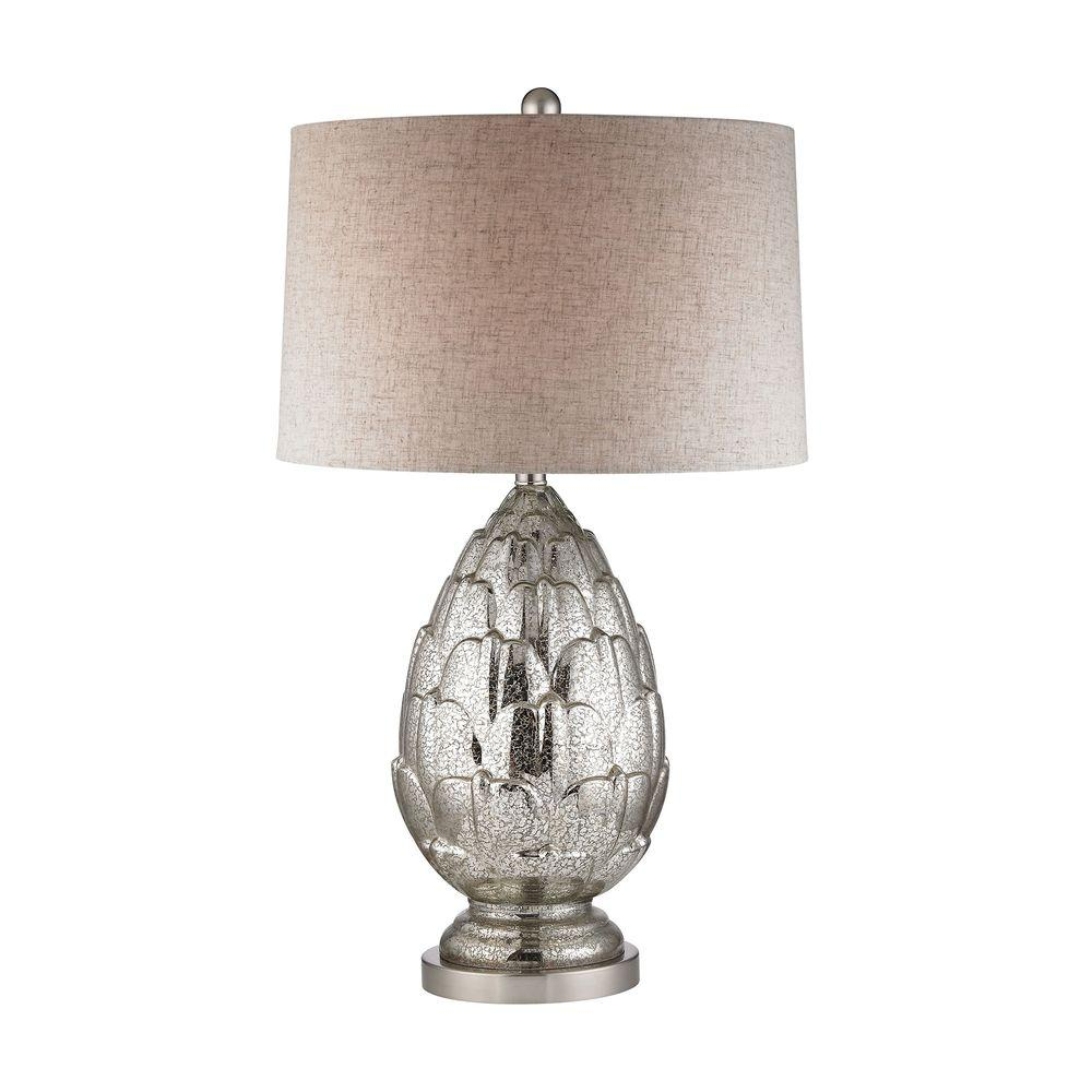 Titan Lighting 29 In. Antique Mercury Artichoke Table Lamp