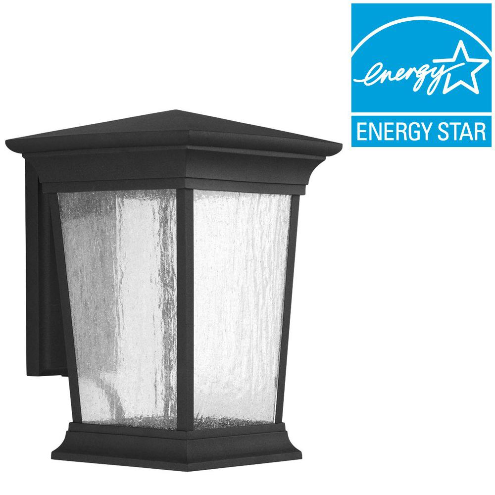 Arrive Collection 1-Light Outdoor 9 Inch Black LED Wall Lantern