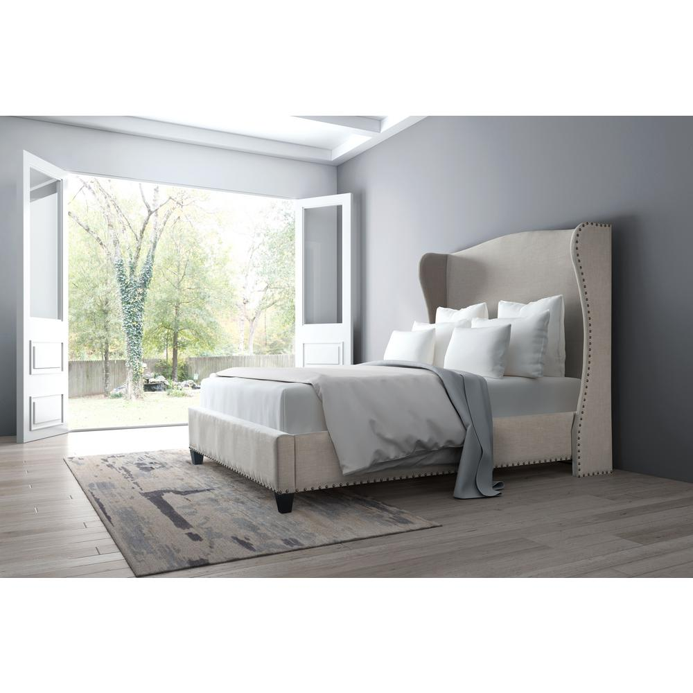 Enlightenment Beige King Sleigh Bed