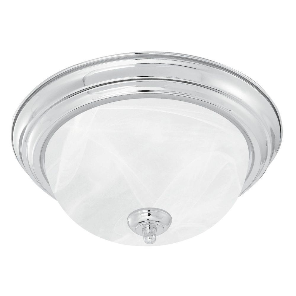 Thomas Lighting 3-Light Brushed Nickel Ceiling Flushmount