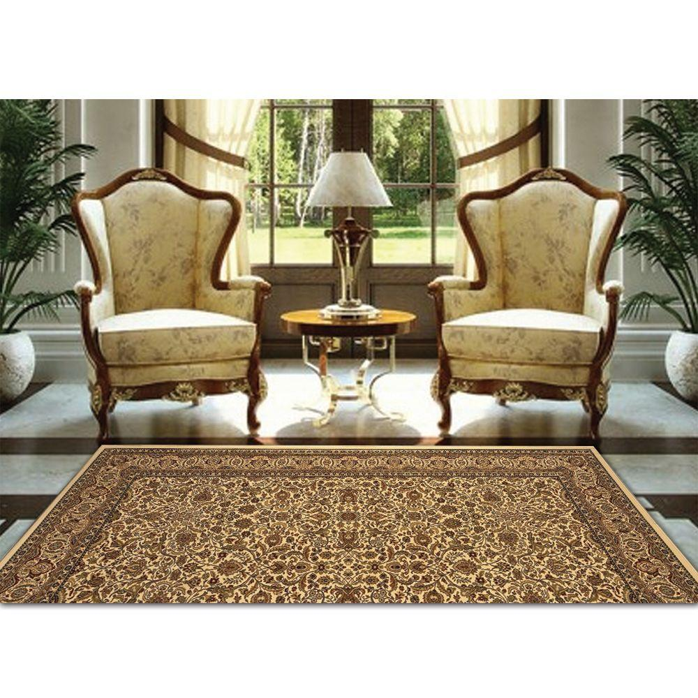 Home Dynamix Super Kashan SK8302 Ivory 1 ft. 11 in. x 3 ft. 7 in. Indoor Accent Rug
