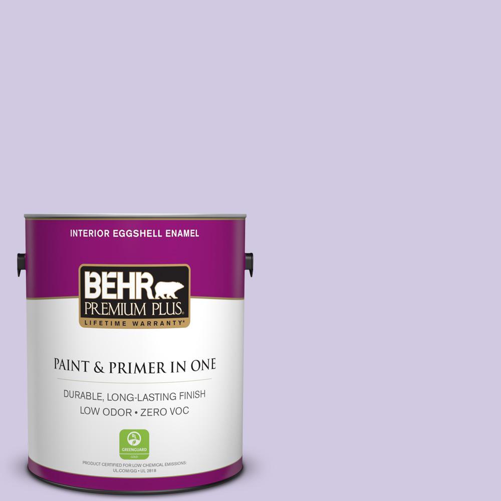 BEHR Premium Plus 1-gal. #650C-3 Light Mulberry Zero VOC Eggshell Enamel Interior Paint