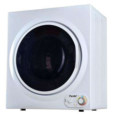 3.75 cu. ft. Compact Laundry Dryer, White and Black