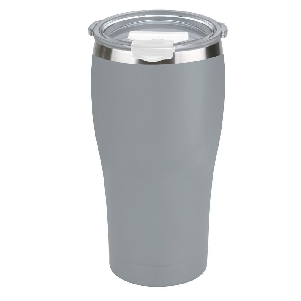 Tahoe Trails 30 oz. Charcoal Gray Vacuum Insulated Stainless Steel Tumbler (2-Pack)