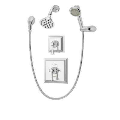 Canterbury Single-Handle 3-Spray Tub and Shower Faucet in Chrome (Valve Included)