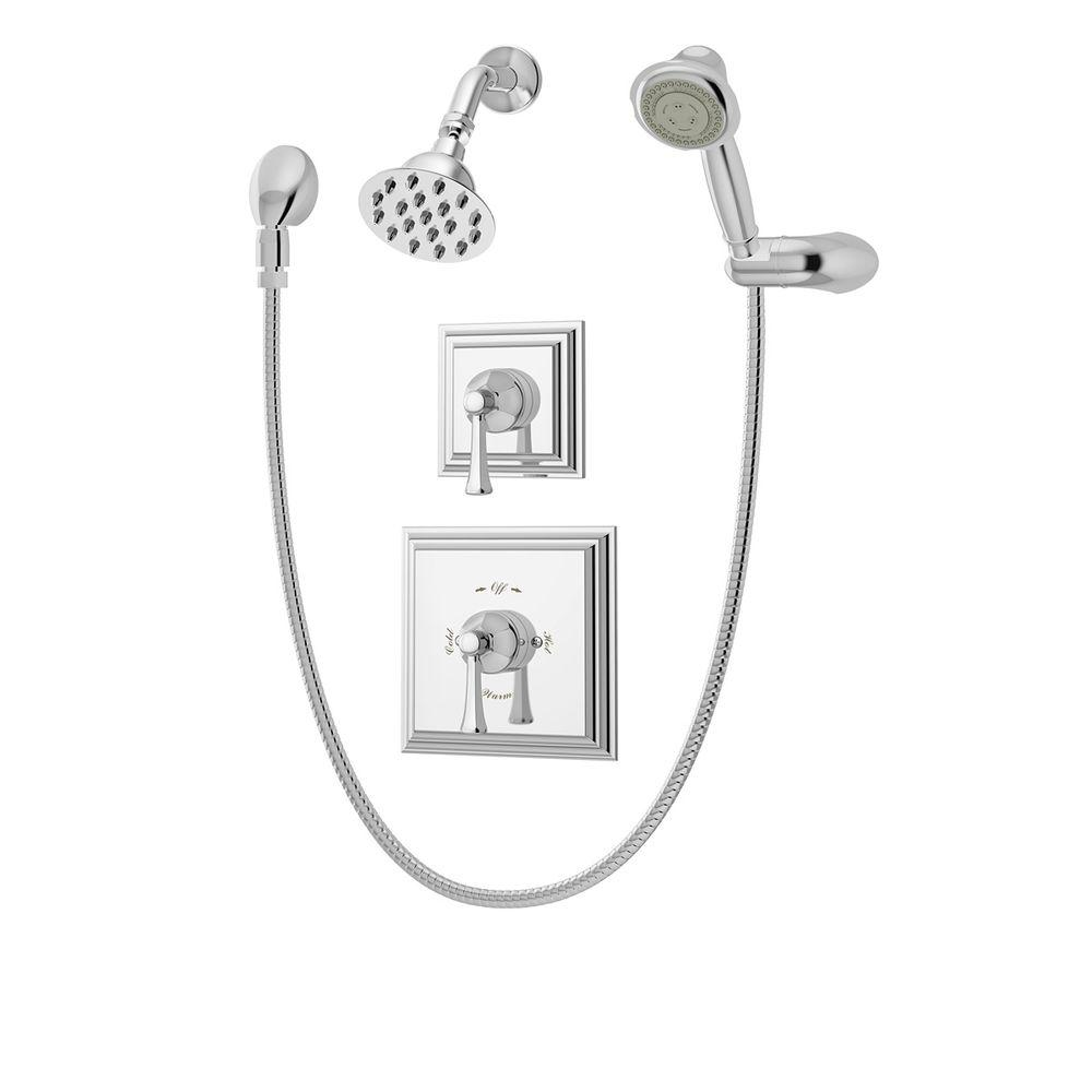 Canterbury Single-Handle 3-Spray Tub and Shower Faucet in Chrome (Valve