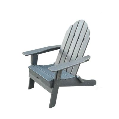 Balboa Gray Folding Plastic Poly Outdoor Adirondack Chair