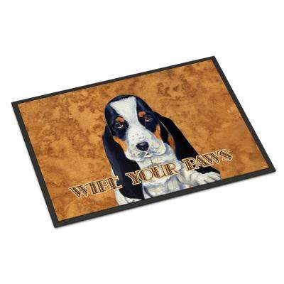 18 in. x 27 in. Indoor/Outdoor Basset Hound Wipe Your Paws Door Mat