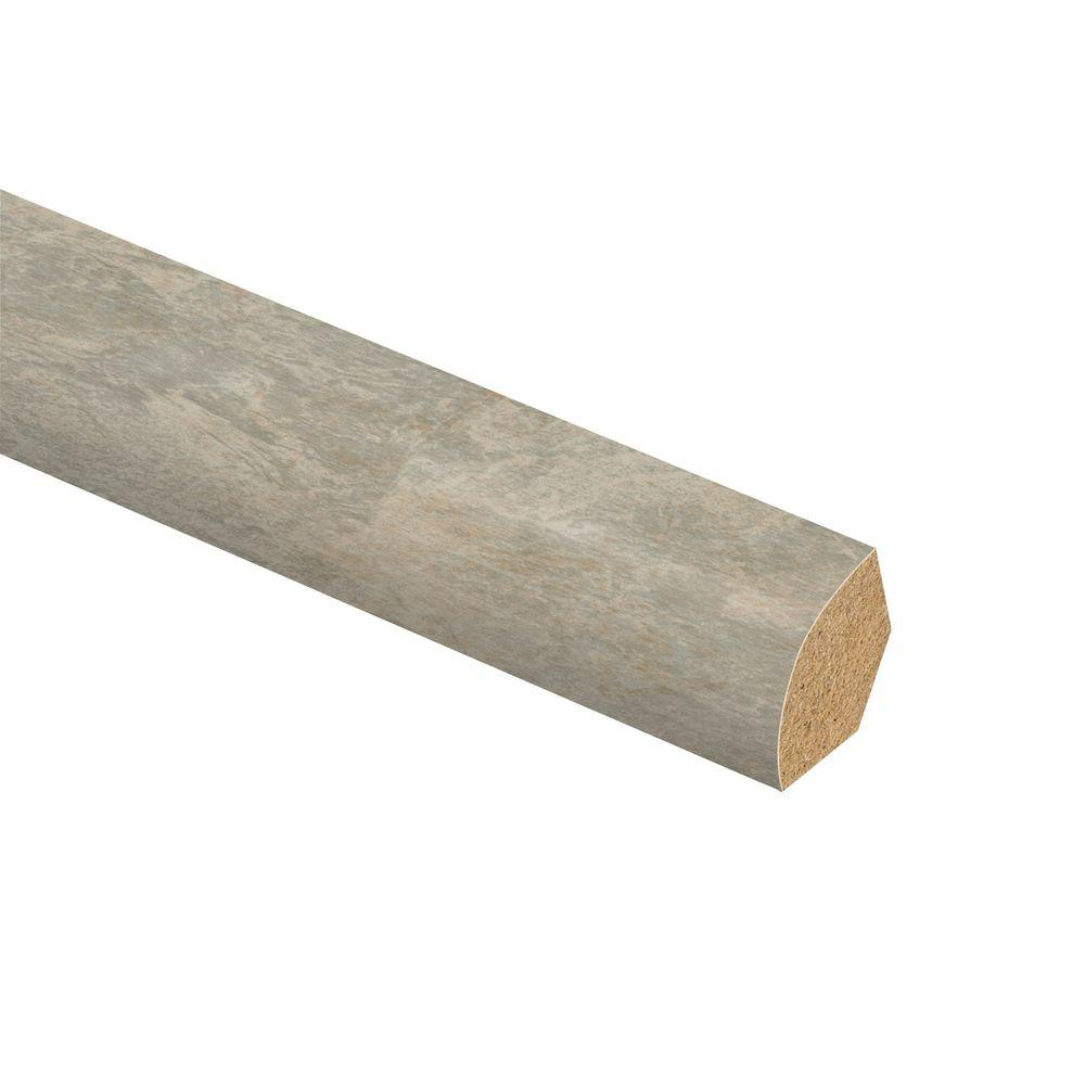 Zamma Ligoria Slate 5/8 in. Thick x 3/4 in. Wide x 94 in. Length Laminate Quarter Round Molding
