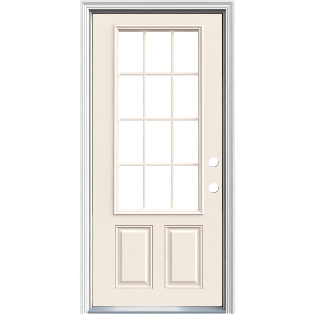Premium 9 Lite Primed Steel Entry Door With Brickmold