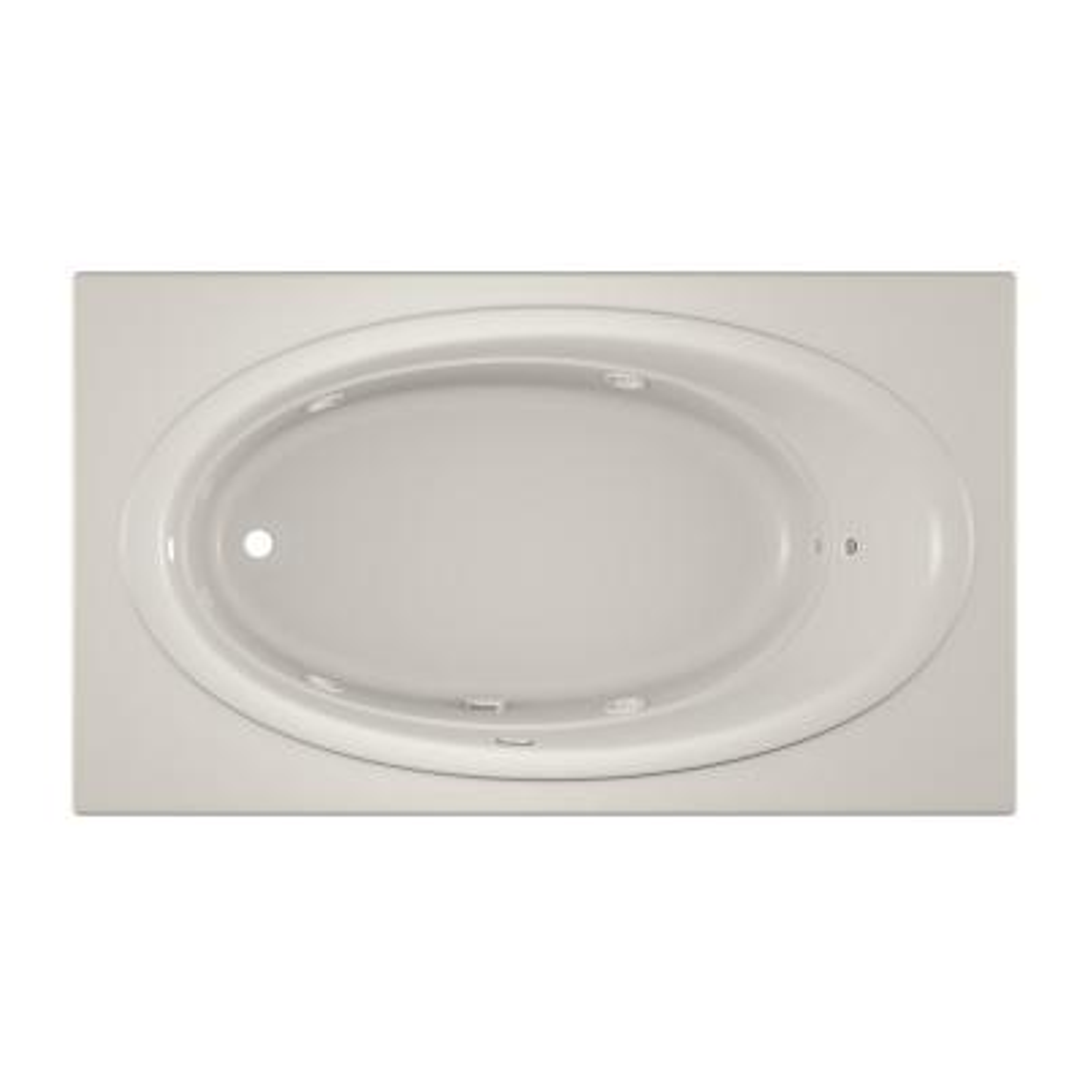 NOVA 72 in. x 42 in. Acrylic Left-Hand Drain Rectangular Drop-In Whirlpool Bathtub in Oyster