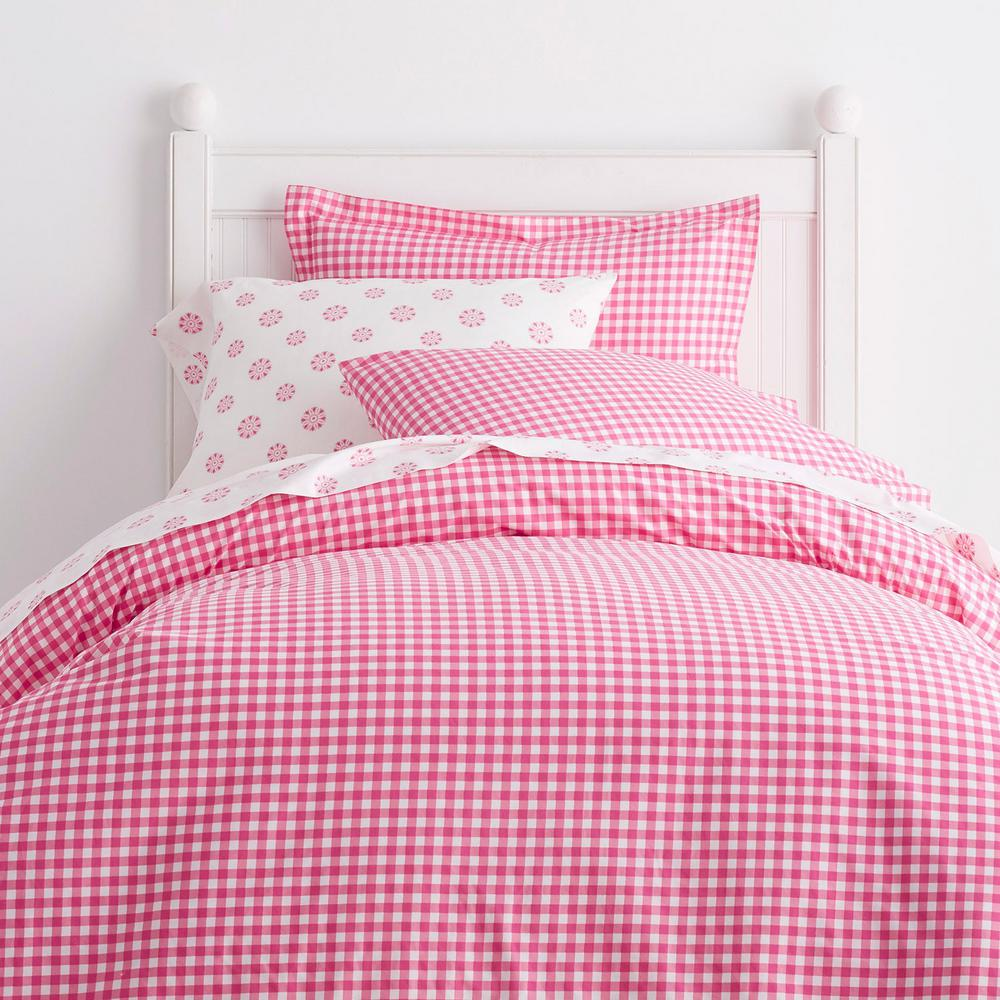 Gingham Hot Pink Cotton Percale