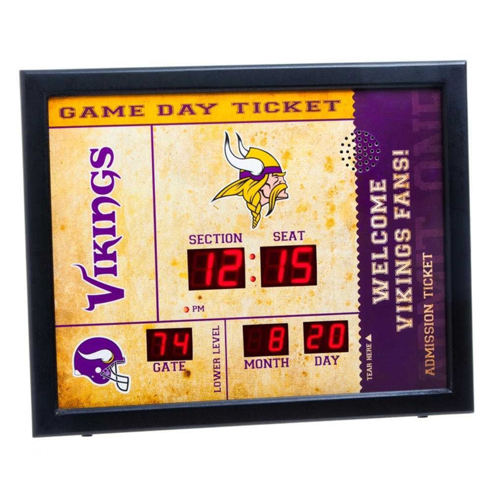 67ed5151b8f9b4 Team Sports America Minnesota Vikings NFL Bluetooth Ticket Stub Wall Clock
