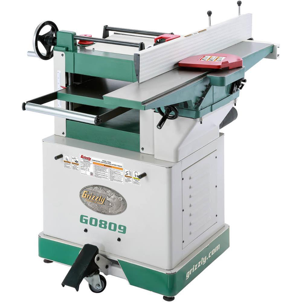 Grizzly Industrial Combination Jointer Planer With Fixed Tables