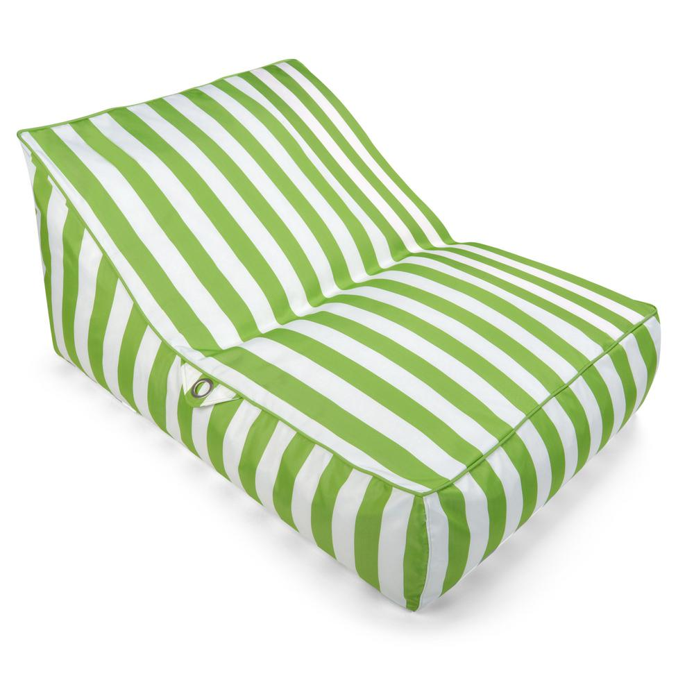 Wondrous Drift Escape Stratus Sofa Bean Bag Swimming Pool Float In Green Striped Nylon Fabric Caraccident5 Cool Chair Designs And Ideas Caraccident5Info