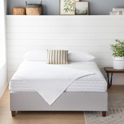 Ava Upholstered Platform Bed with Slats - Stone, Queen