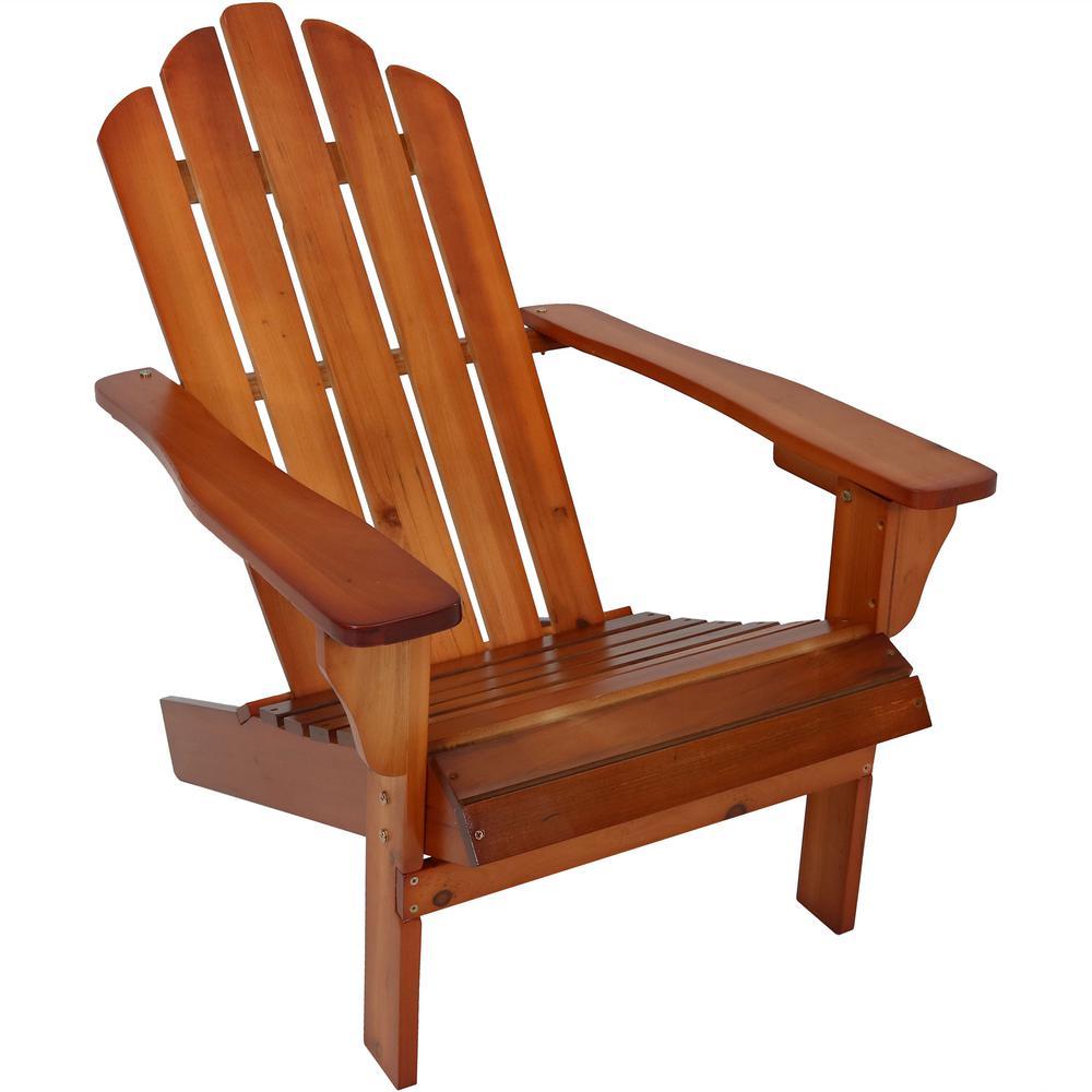Brown Wooden Outdoor Patio Adirondack Chair
