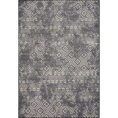 Laguna Grey Elements 8 ft. x 11 ft. Distressed Area Rug