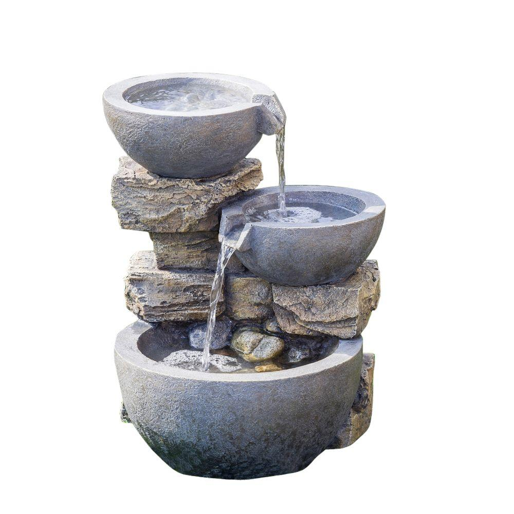 Rock Water Fountains: Jeco Rock And Pot Water Fountain-FCL073