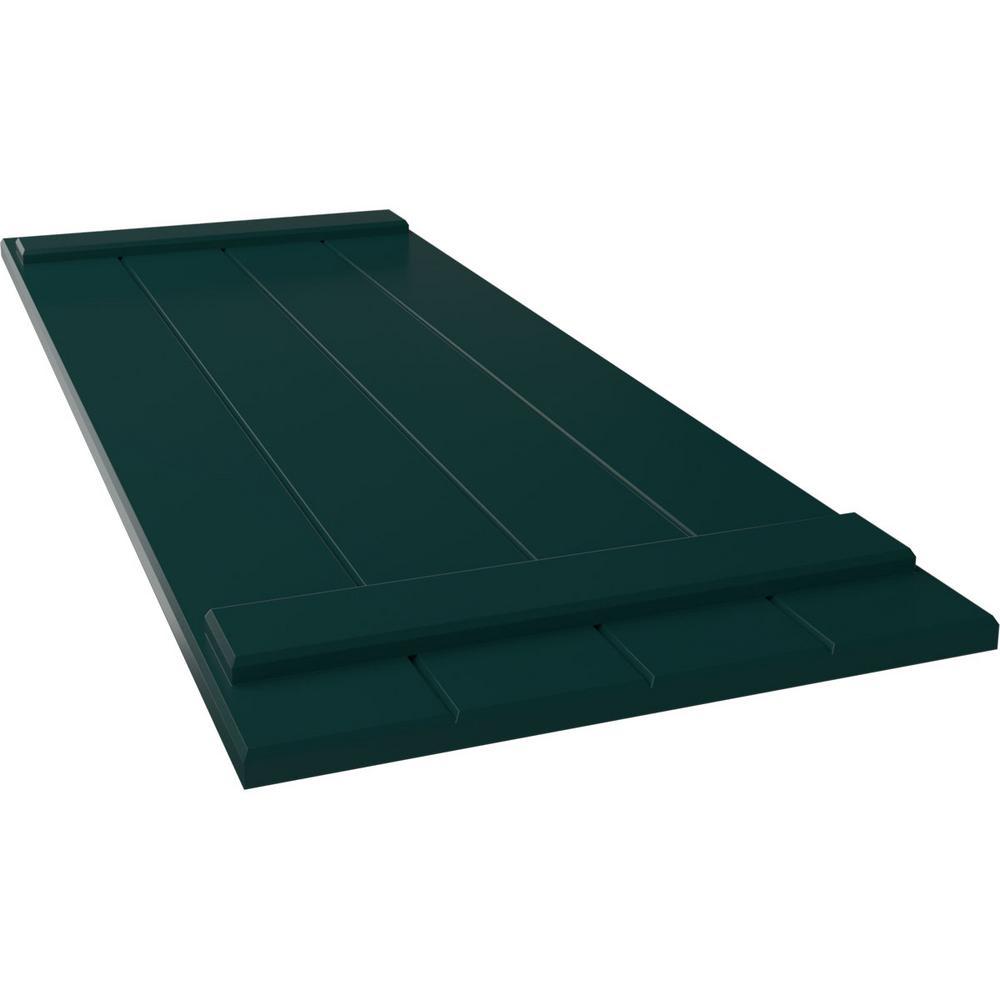 Ekena Millwork 21 1 2 X 70 True Fit Pvc Four Board Joined Board N Batten Shutters Thermal Green Per Pair 1573732 The Home Depot