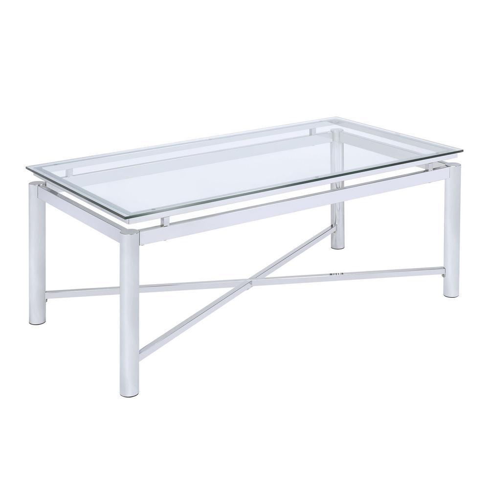 Monroe Clear Glass Coffee Table