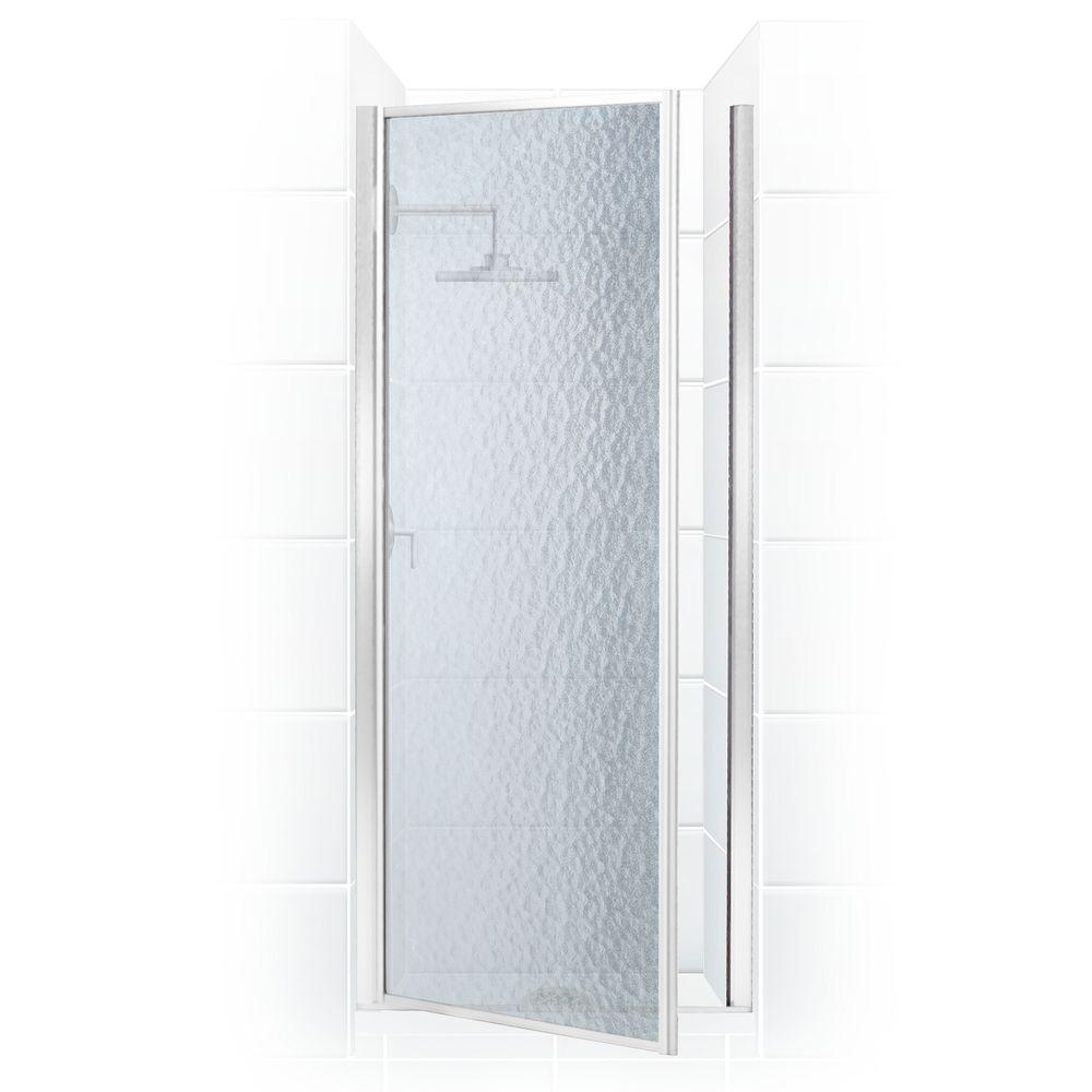 Coastal Shower Doors Legend Series 28 in. x 68 in. Framed Hinged Shower Door in Chrome with Obscure Glass