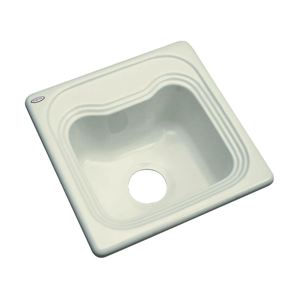 Thermocast Oxford Drop-In Acrylic 16 in. Single Bowl Kitchen Sink in Jersey Cream