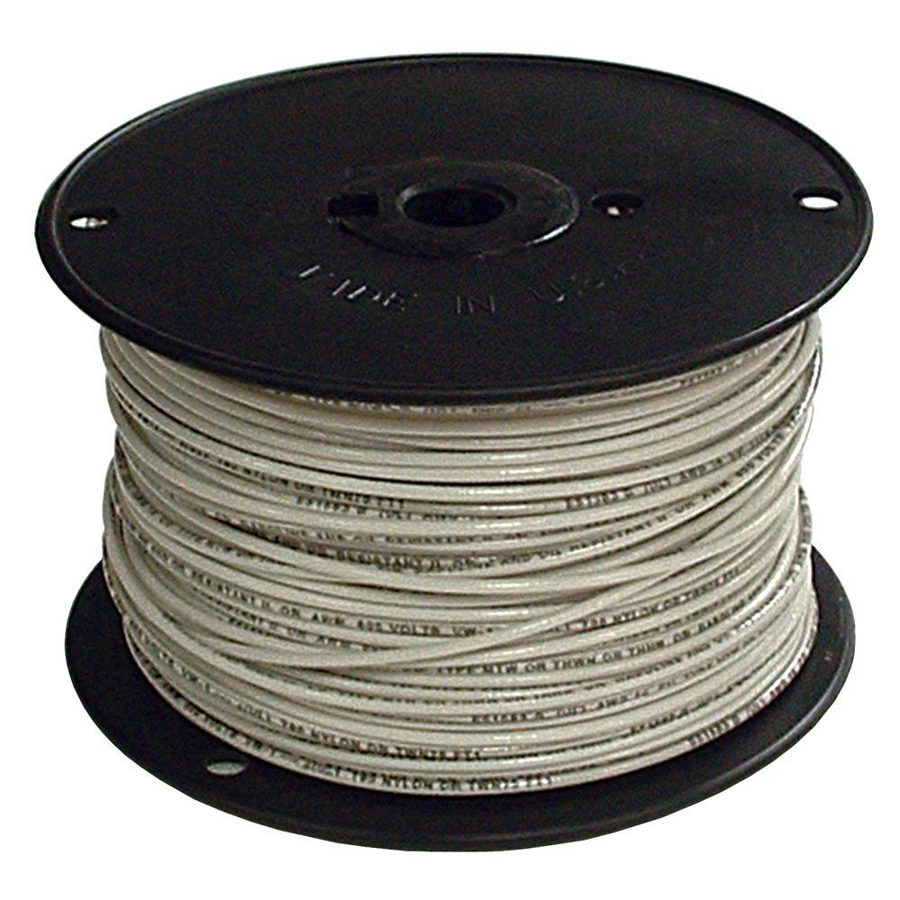 2 Thhn Wire | Southwire 500 Ft 2 White Stranded Cu Simpull Thhn Wire 20503901