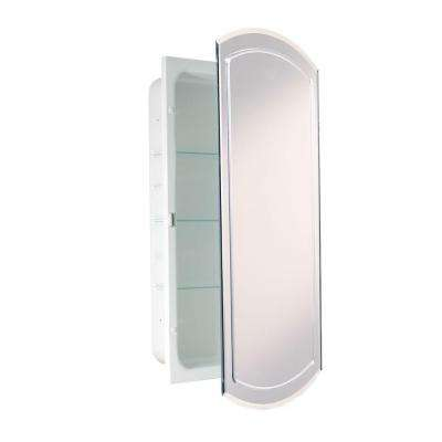 16 in. W x 30 in. H x 4-1/2 in. D Frameless Recessed V-Groove Beveled Eclipse Bathroom Medicine Cabinet