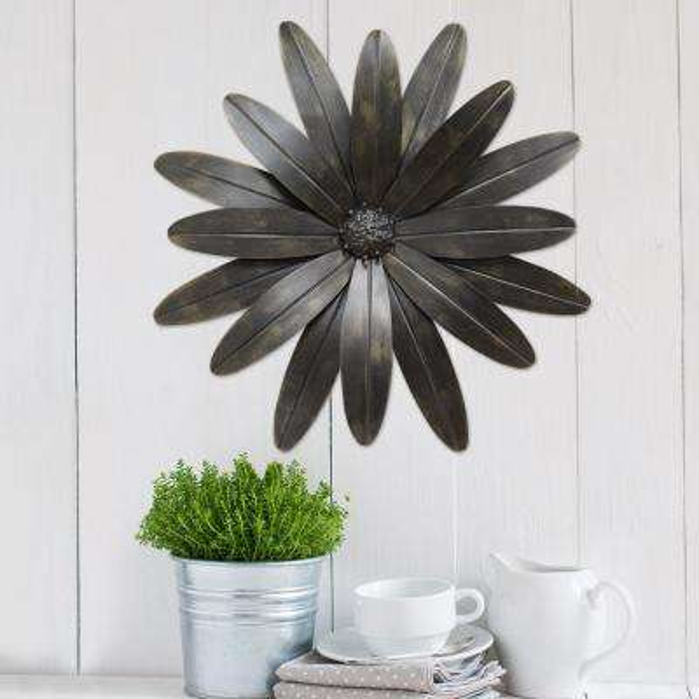 Industrial Flower Metal Wall Decor
