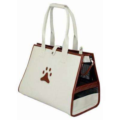 Beige and Brown Posh Paw Pet Carrier - Medium
