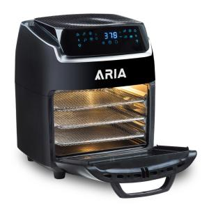 Aria 10 Qt. Black AirFryer with Recipe Book AAFO-880