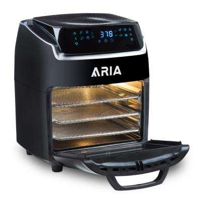 10 QT Aria Air Fryer With Rotating Rotisserie, Dehydration, Premium Accessory Set, & Recipe Book