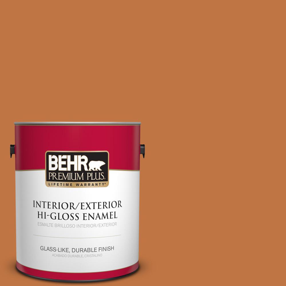 1 gal. #PPU3-02 Marmalade Glaze Hi-Gloss Enamel Interior/Exterior Paint