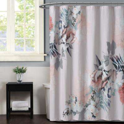 Dreamy 72 in. Floral Shower Curtain