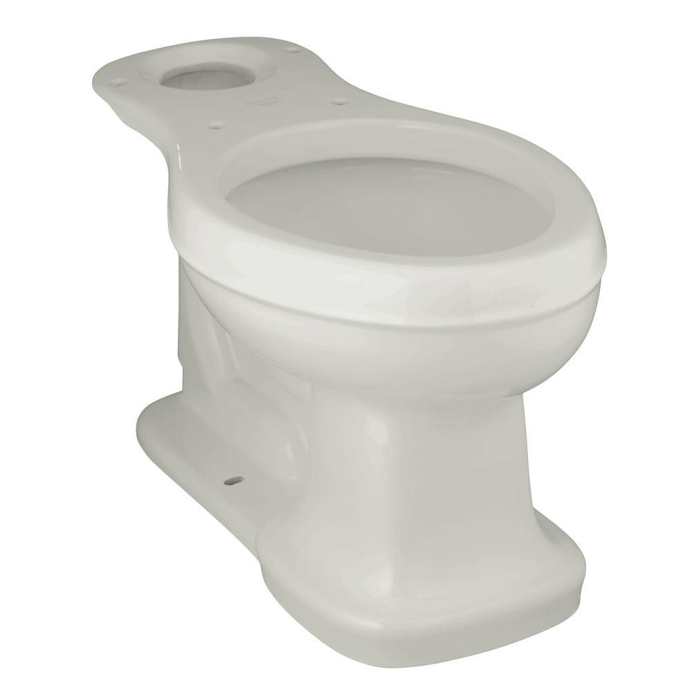 Bancroft Comfort Height Elongated Toilet Bowl Only in Ice Grey
