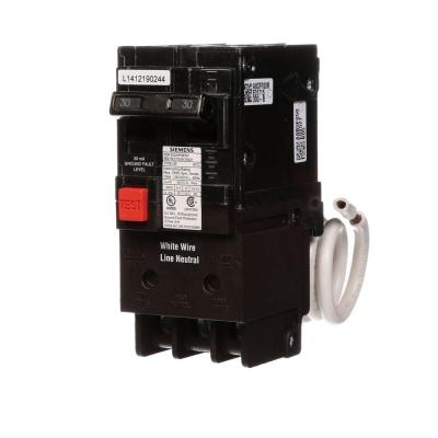 30 Amp Double-Pole Type QE Ground Fault Equipment Protection Circuit Breaker