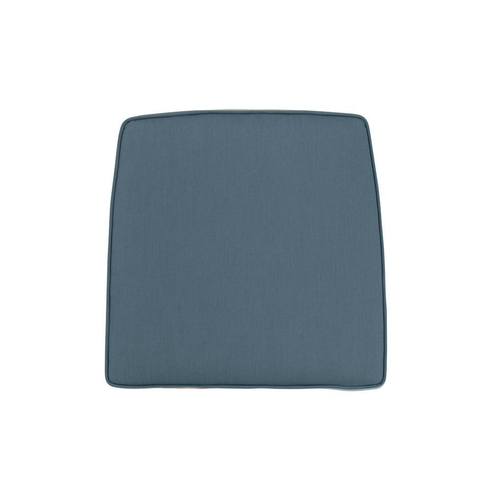 Greystone Replacement Outdoor High Dining Chair Cushion in Denim