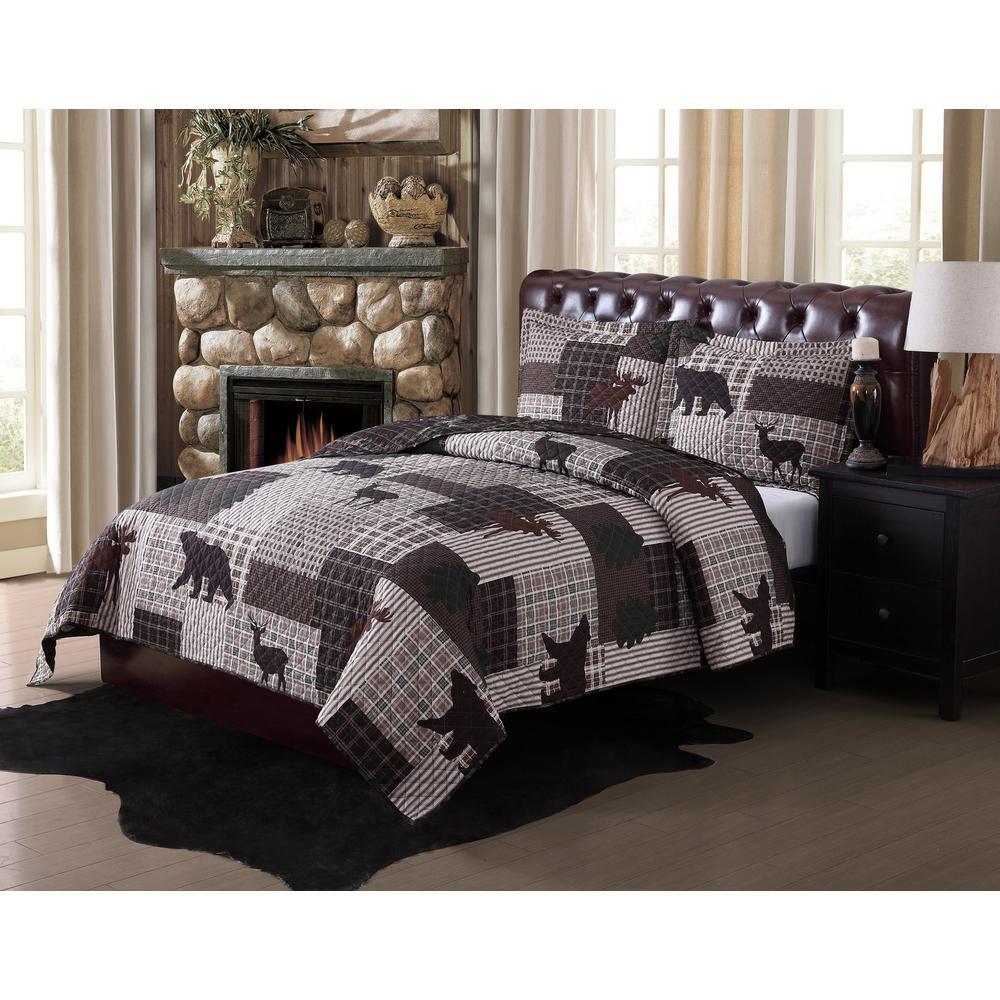 Upper Peninsula Multi-Color Twin Quilt Set