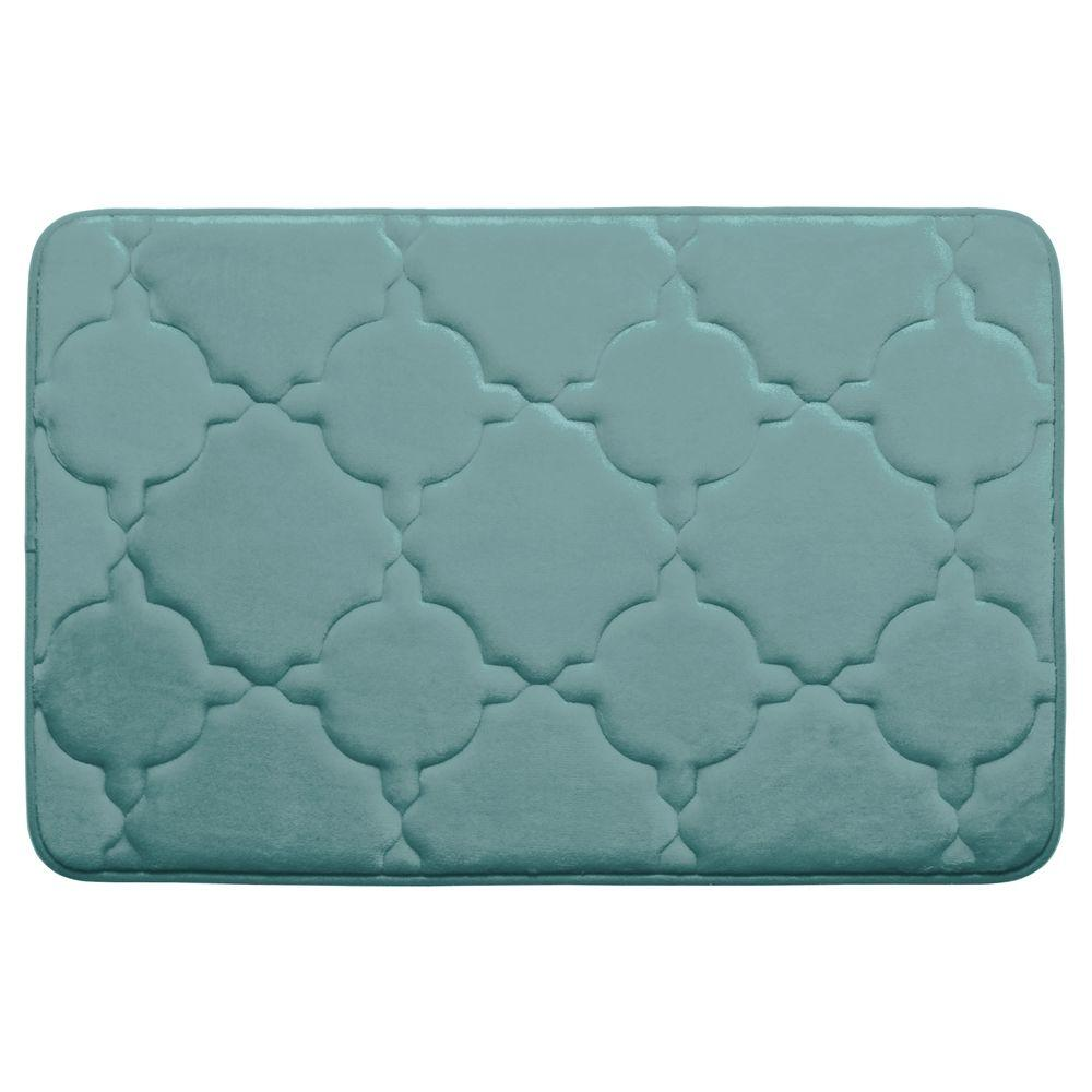 Bouncecomfort Dorothy Marine Blue 20 In X 32 In Memory Foam Bath Mat Ymb003686 The Home Depot