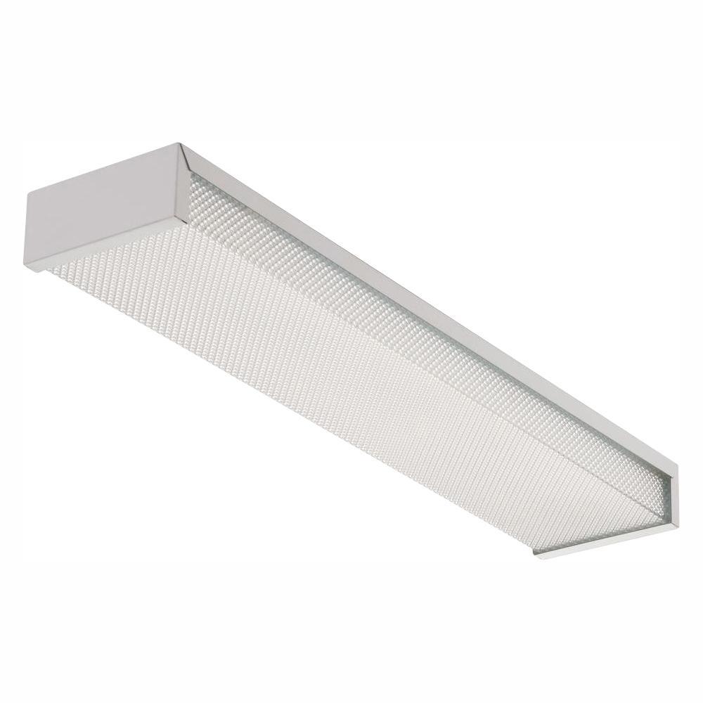 Lithonia Lighting 3324 2 Light White Fluorescent Flushmount Fixture