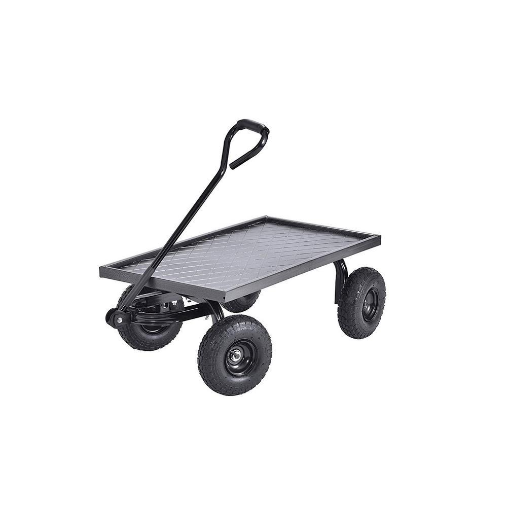 20 in. D x 38 in. W x 14.25 in. H Heavy-Duty Steel Garden Cart, 400 lb. Capacity