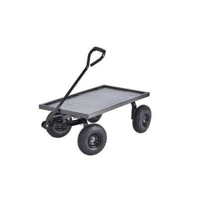 20 in. D x 38 in. W x 14.25 in. H Heavy-Duty Steel Garden Cart, 400 lb. Capacity