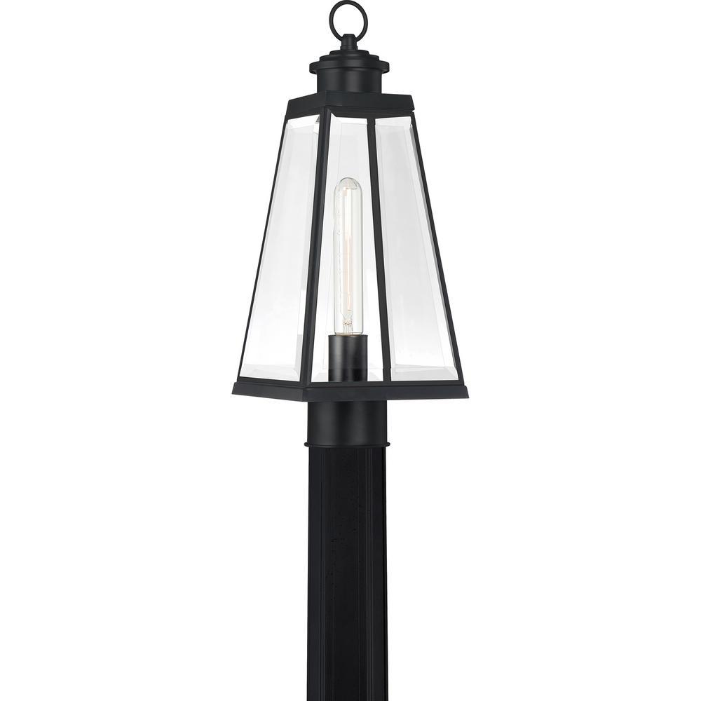 Paxton 1-Light Matte Black Outdoor Post Lantern
