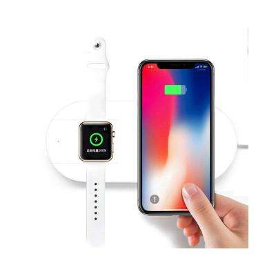 2-In-1 Wireless Charging Pad with Fast Qi Charger and Charger for Apple Watch